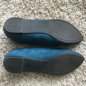 Kelly & Katie Shoes - Turquoise / Teal Suede Flats